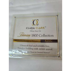 Clara Clark Deluxe Sheet Set King Size White